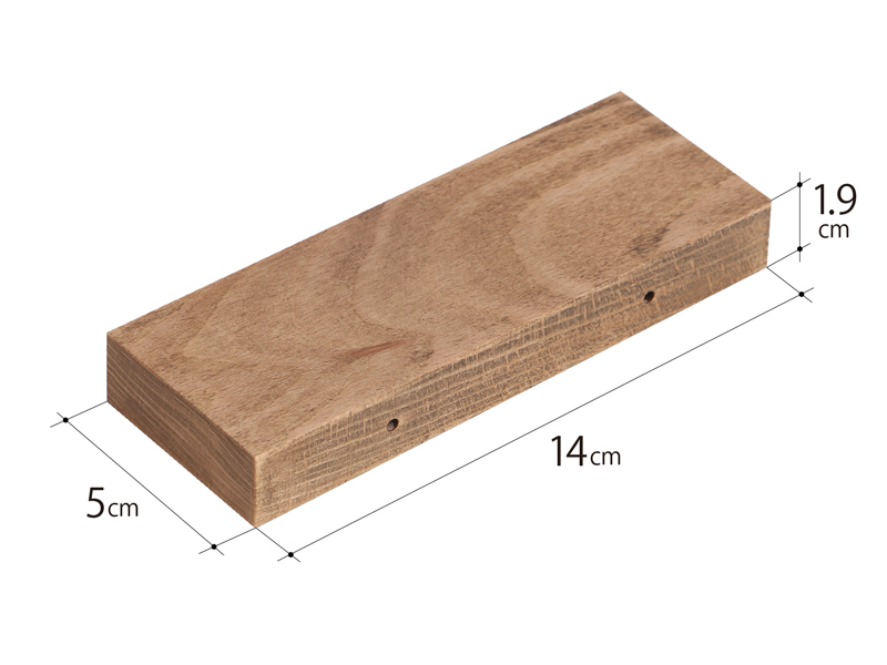 テキーラウッドハンドルのサイズ画像
