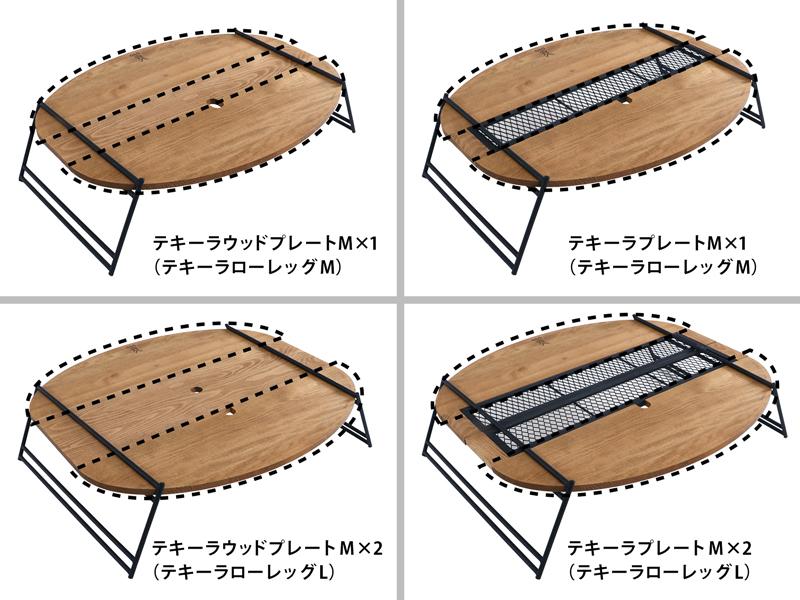 テキーラウッドプレートCのメインの特徴(テキーラプレートで拡張可能)