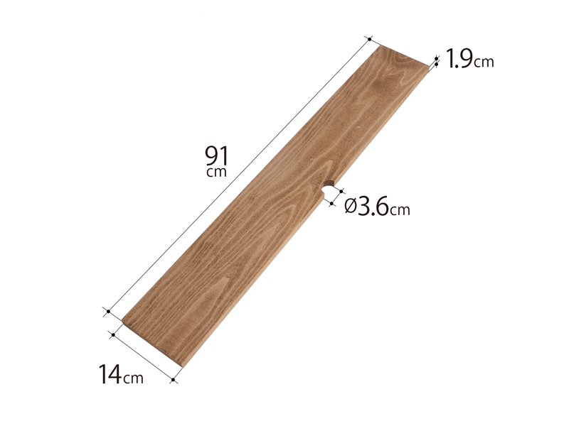 テキーラウッドプレートMのサイズ画像
