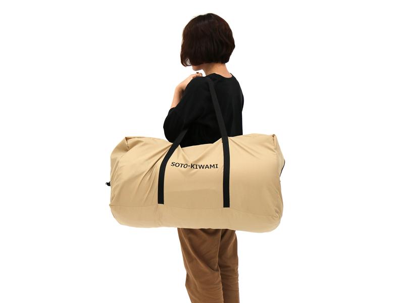 ソトネノキワミLの各部の特徴(収納しやすいキャリーバッグ)