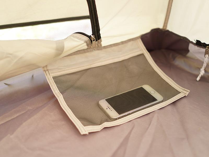 ザ・ワンタッチテントLの各部の特徴(寝室ポケット)