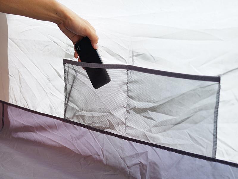 カマボコテントクエの各部の特徴(寝室ポケット)