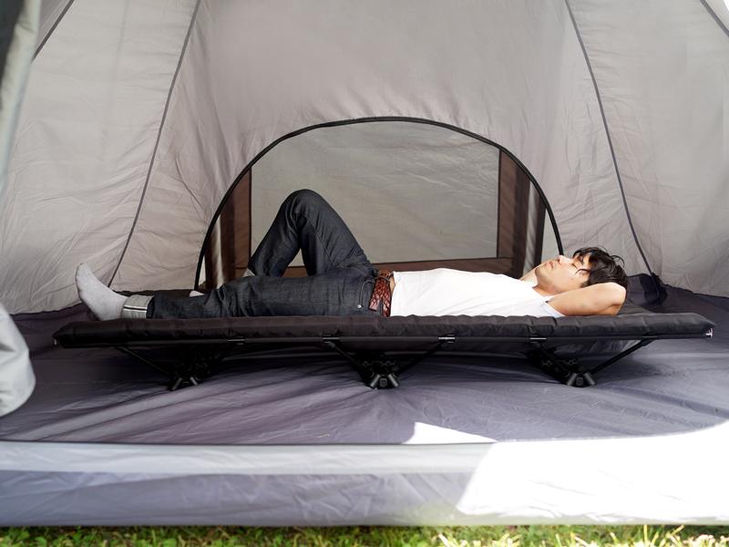 ハンペンインザスカイのメインの特徴(テントに入れやすいローコットスタイル)
