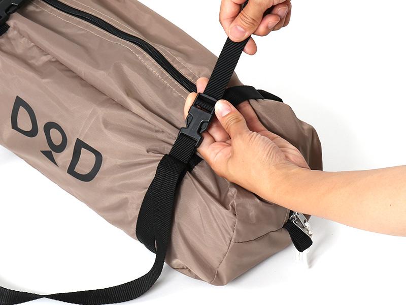 ワラビーテントの各部の特徴(専用コンプレッションバッグ)