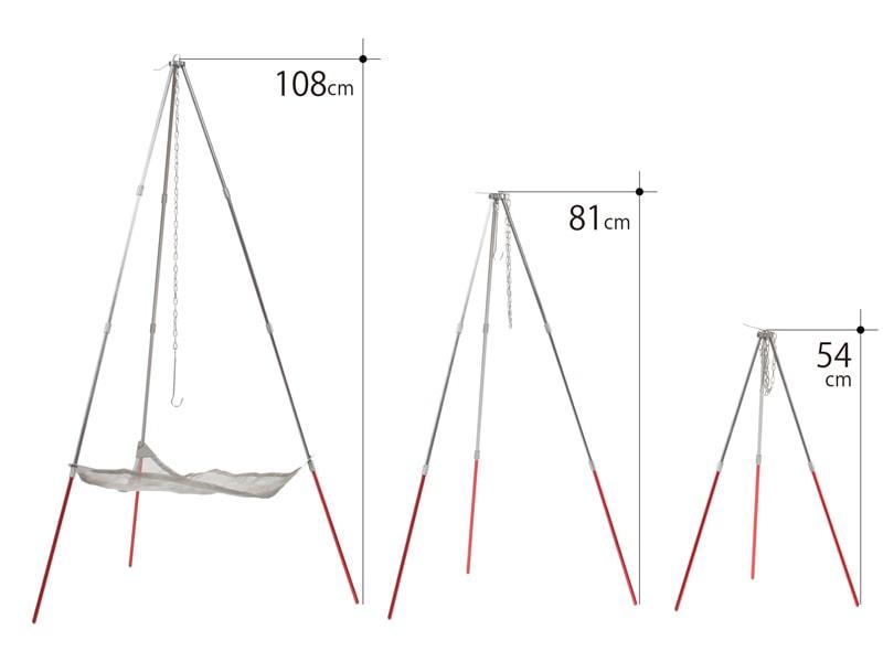 ライダーズファイアクレードルの各部の特徴(高さ調整3段階)