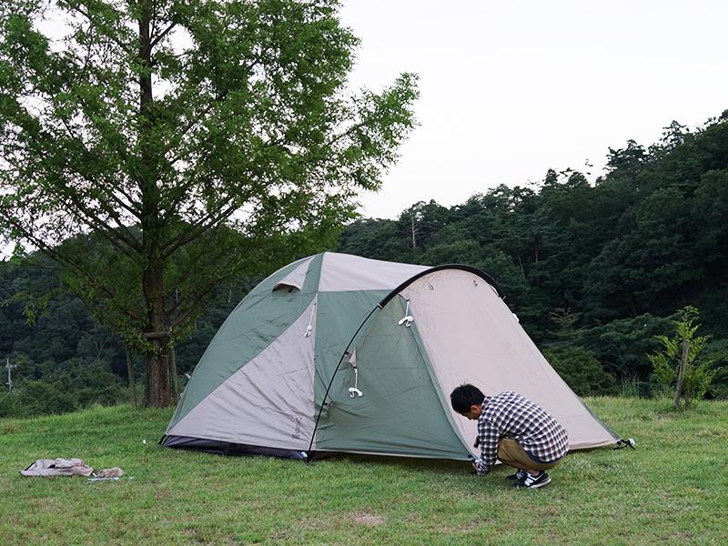 ザ・テントMの組立/設営方法