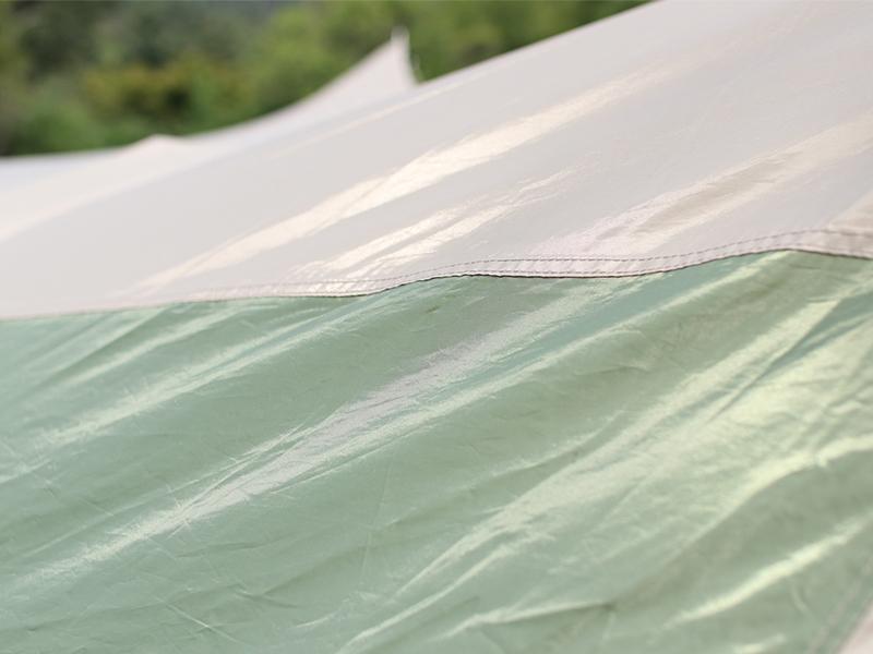 ザ・テントLの各部の特徴(遮光性・耐久性の高い150D生地)