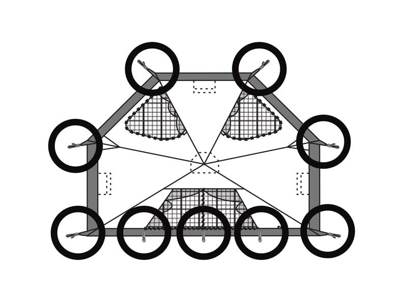 ヤドカリテントクローズ状態の設営方法画像