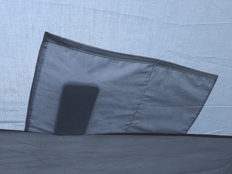 ヤドカリテントの各部の特徴(寝室ポケット)