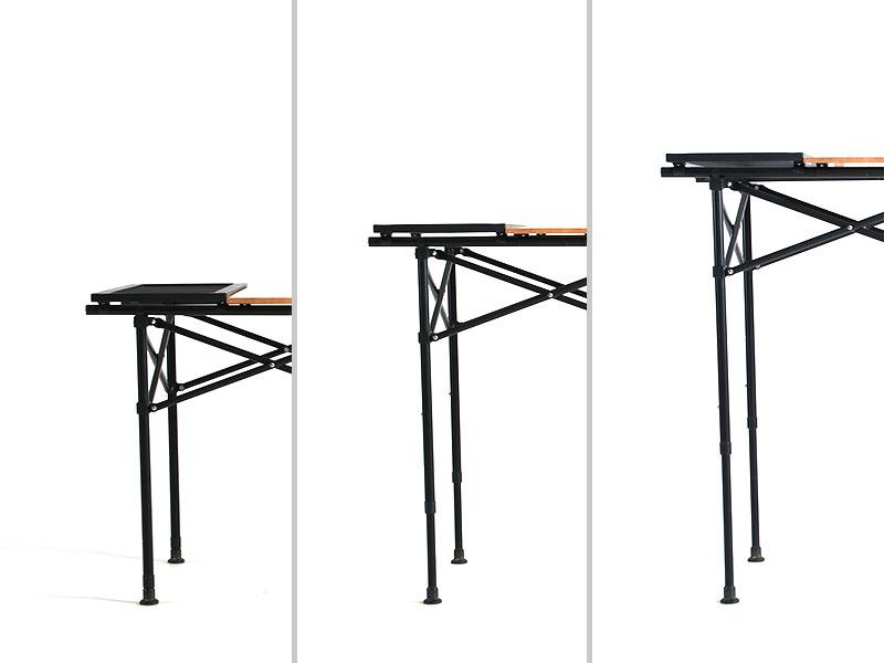 ソトデーチューボー2の各部の特徴(ダイニングテーブルにも。3段階高さ調整)