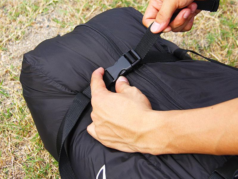ギンノタラコの各部の特徴(専用コンプレッションバッグ付属)