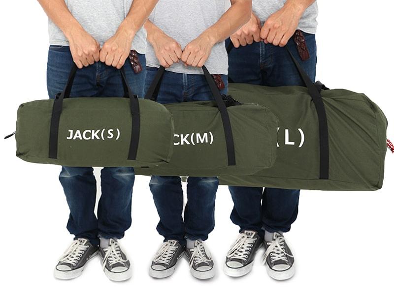 ジャケシュラ2Lのメインの特徴(テント型収納キャリーバッグ)