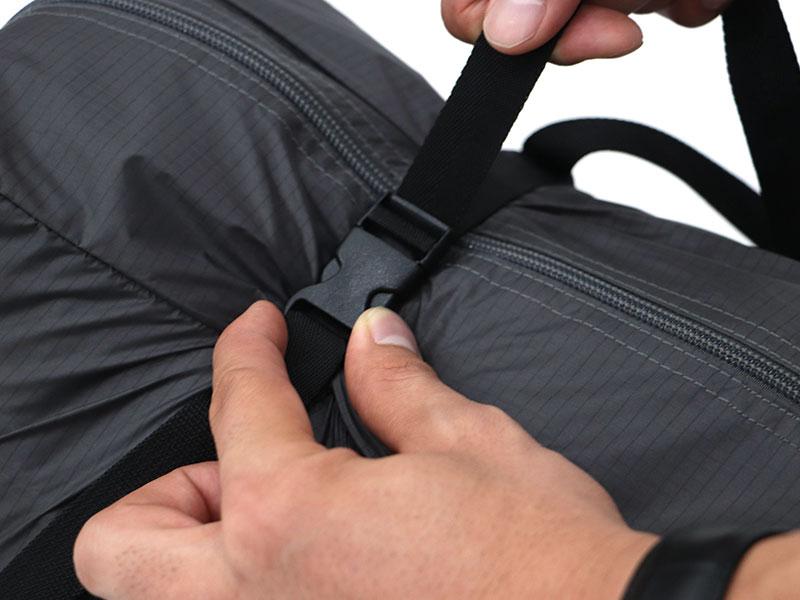 ショウネンテントの各部の特徴(コンプレッション付きキャリーバッグ)