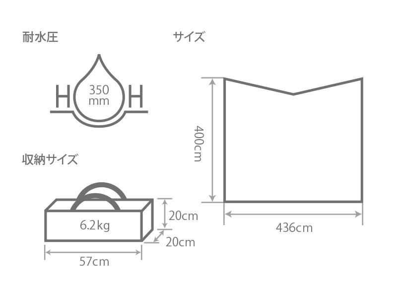 ヒレタープのサイズ画像
