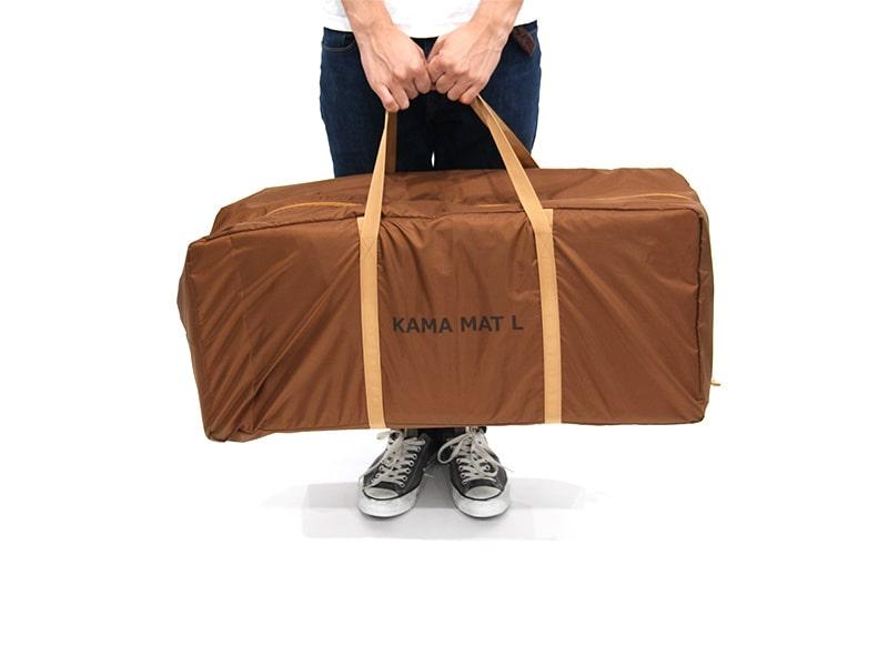 カマボコテント3L用マットシートセットのメインの特徴(グランドシートとインナーマットが一緒に入る専用キャリーバッグ)