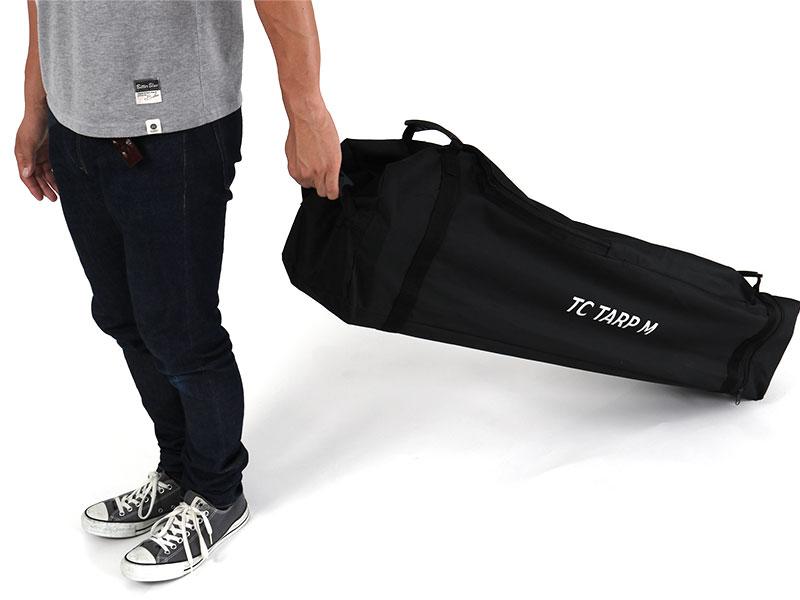 TCワンタッチタープMの各部の特徴(運搬しやすい専用キャリーバッグ)