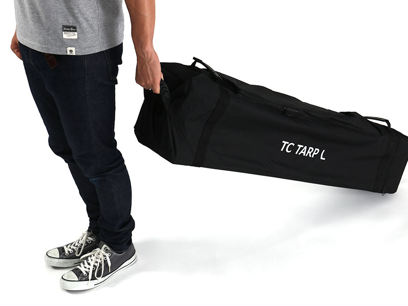 TCワンタッチタープLの各部の特徴(運搬しやすい専用キャリーバッグ)