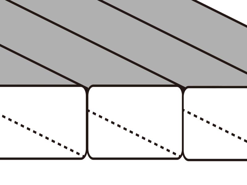 ギンノタラコの各部の特徴(ボックスキルト構造)