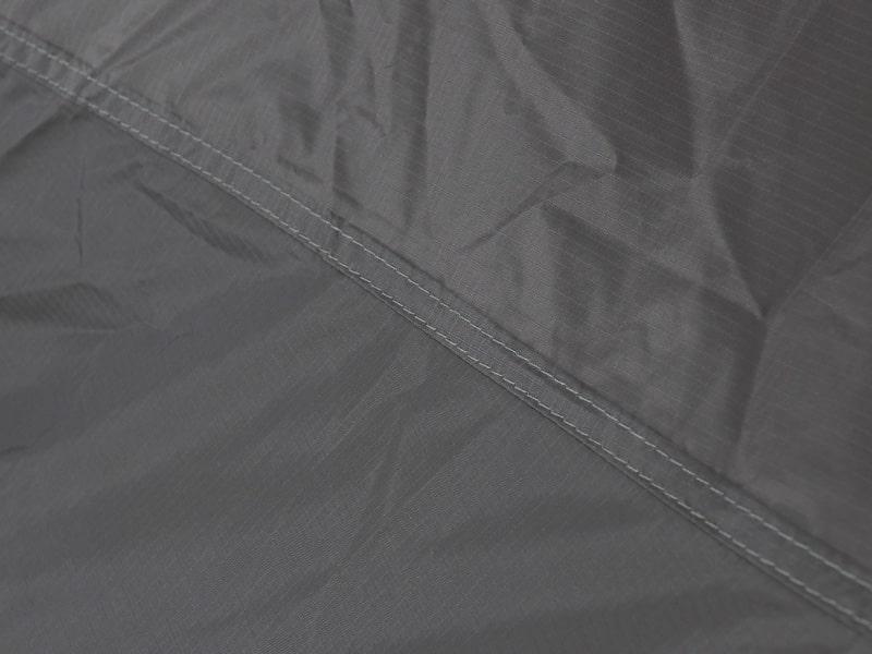 ライダーズワンタッチテントの各部の特徴(軽量コンパクトなナイロン生地使用)