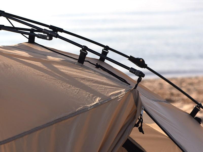 ライダーズワンタッチテントの各部の特徴(アルミ合金製テントポール)