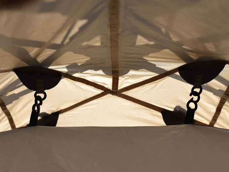ライダーズワンタッチテントの各部の特徴(吊り下げ式インナーテント)