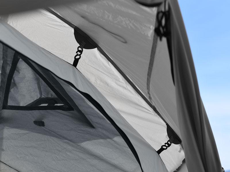 ライダーズワンタッチテントのメインの特徴(雨でも安心、ダブルウォール)