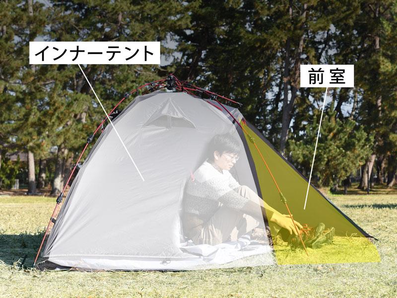 ライダーズワンタッチテントのメインの特徴()