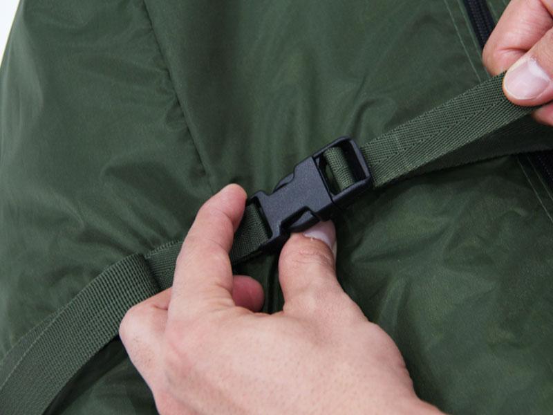 カマボコテント3Lの各部の特徴(専用コンプレッションバッグ)