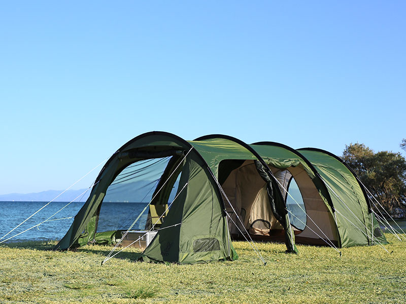 カマボコテント3Mのメインの特徴(リビング&寝室が一体型の2ルーム構造)