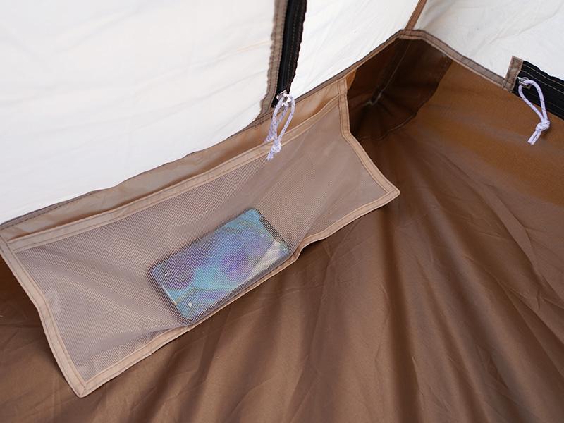 カマボコテント3S用インナーテントの各部の特徴(寝室ポケット)