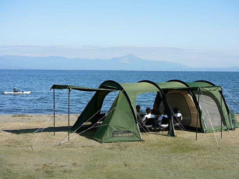 カマボコテント3Lのメインの特徴(リビング&寝室が一体型の2ルーム構造)