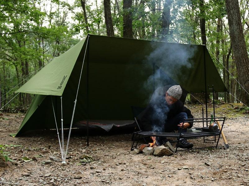 ヌノイチSのメインの特徴(ソロキャンプに丁度よいサイズ)