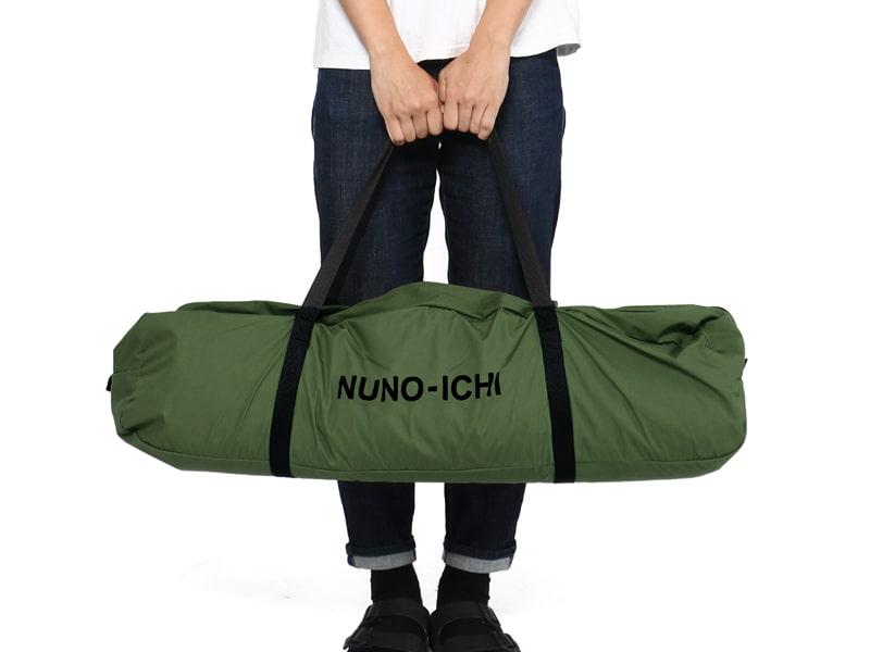 ヌノイチMの各部の特徴(コンパクト収納)