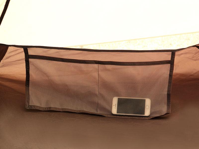 ワンポールテントMの各部の特徴(インナーポケット)