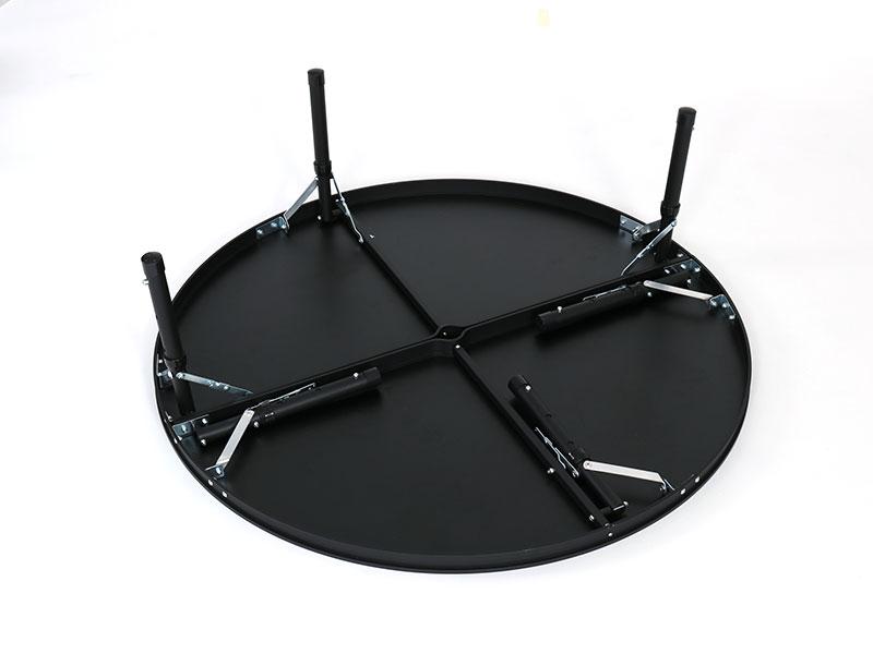 ワンポールテントテーブルの各部の特徴(脚部折りたたみ)