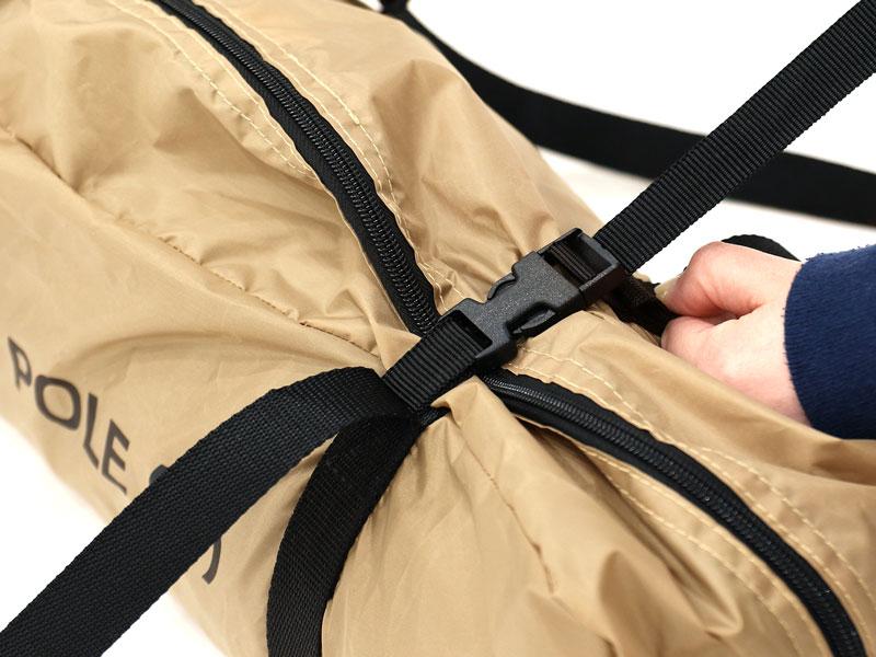 ワンポールテントSの各部の特徴(専用コンプレッションバッグ)