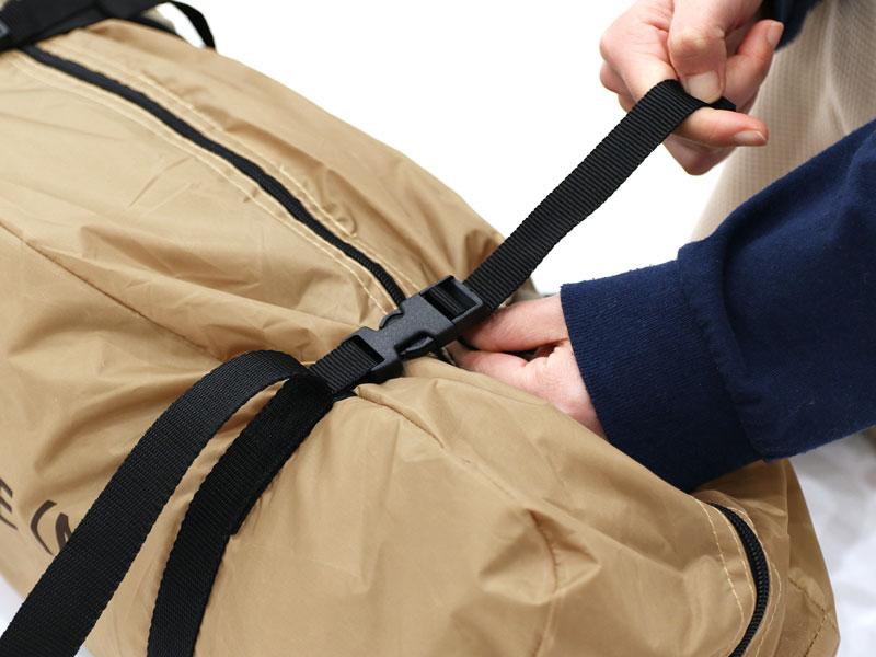 ワンポールテントMの各部の特徴(専用コンプレッションバッグ)