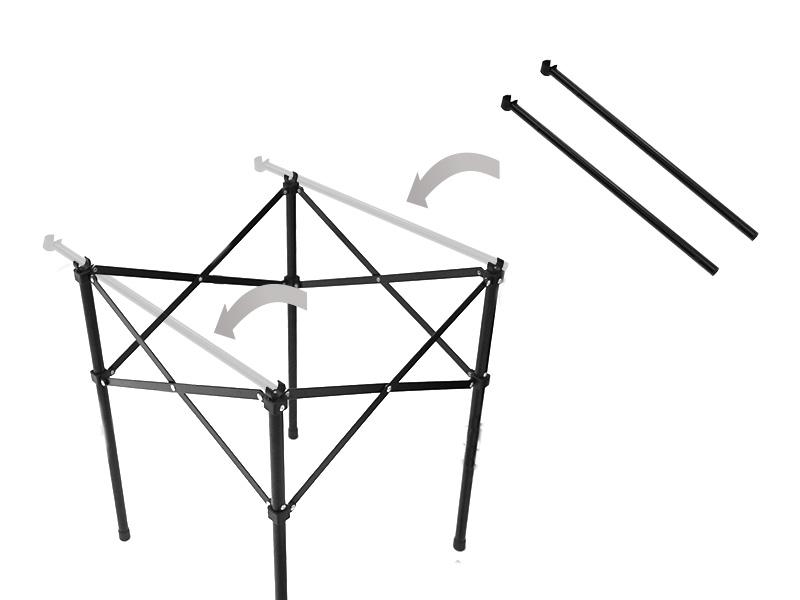 クッキングキングバーナースタンド取り付け方法画像