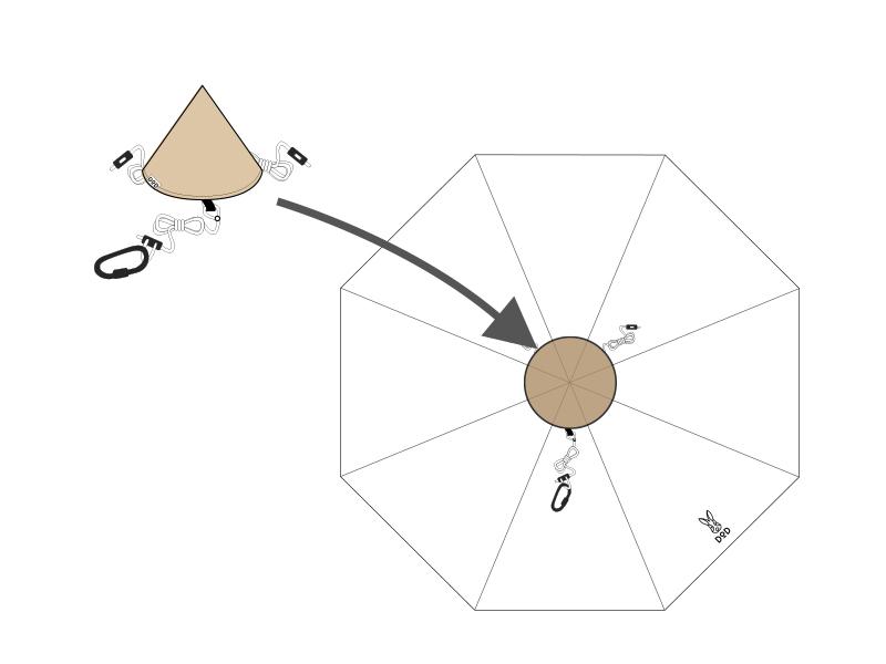 トンガリハットの組立/設営方法