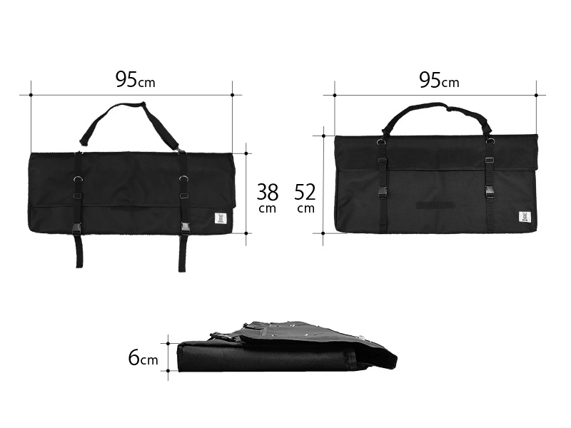 テキーラロールバッグのサイズ画像