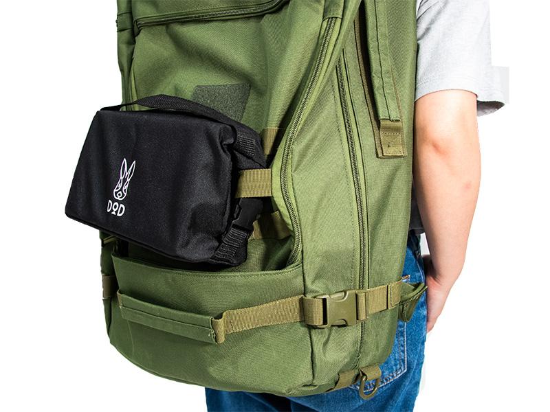 ぷちもえファイヤーの各部の特徴(バックパックに取り付けられるキャリーバッグ)