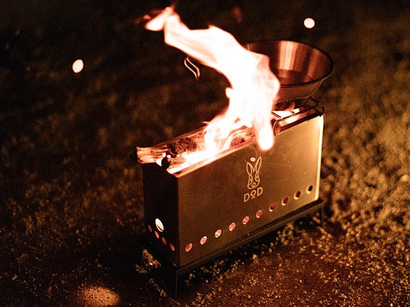 ぷちもえファイヤーのメインの特徴(燃焼効率が高く煙が少ない)