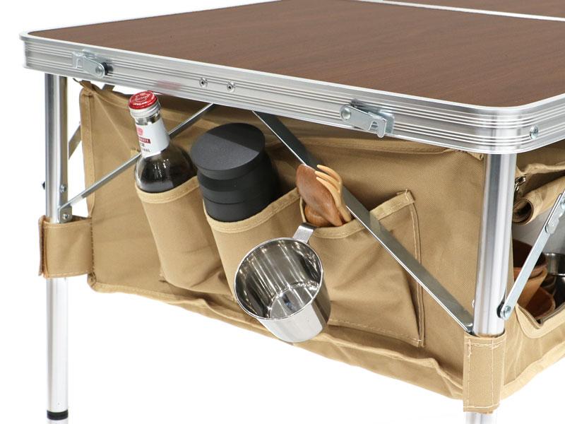 グッドラックテーブルの各部の特徴(サイドポケット)