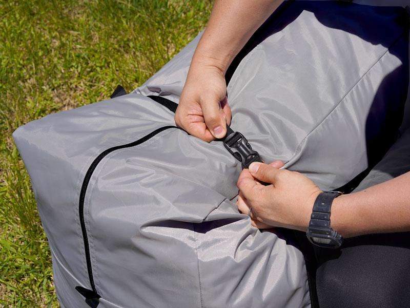 ロクロクベース2の各部の特徴(専用コンプレッションバッグ)