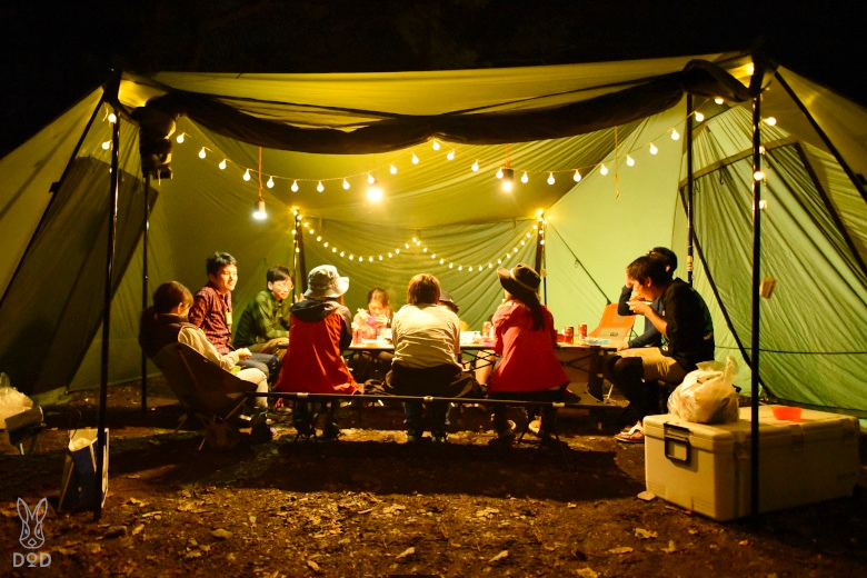 ロクロクベースでの宴会キャンプ