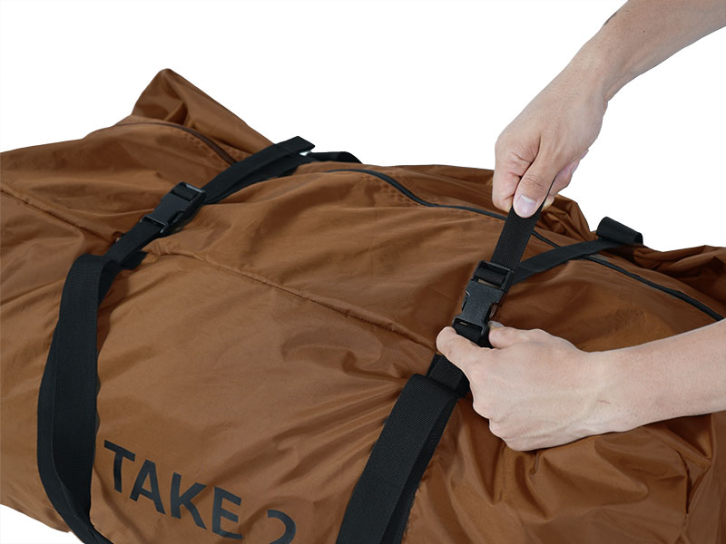タケノコテント2の各部の特徴(専用コンプレッションバッグ)