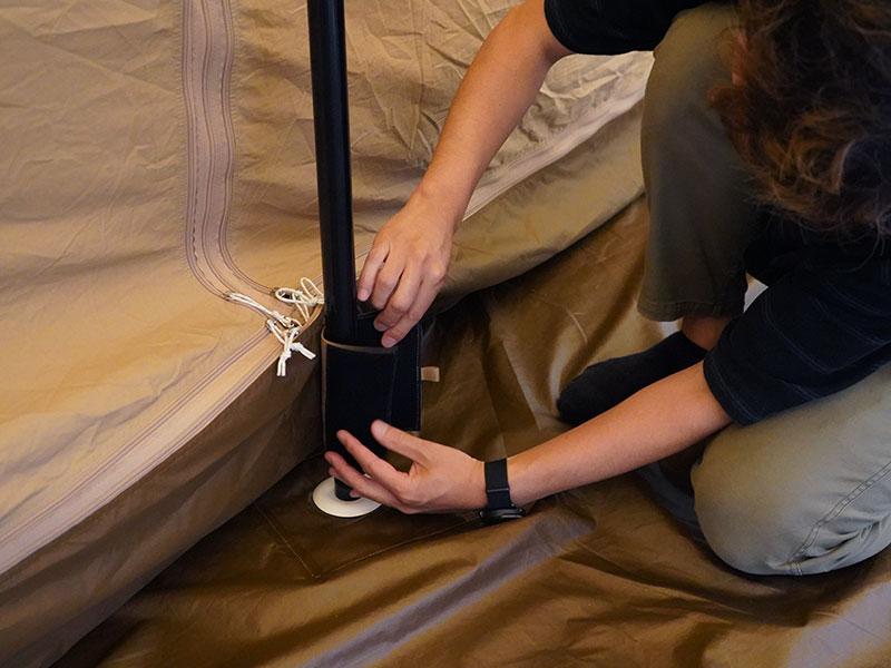 タケノコテント用インナーテントの組立/設営方法
