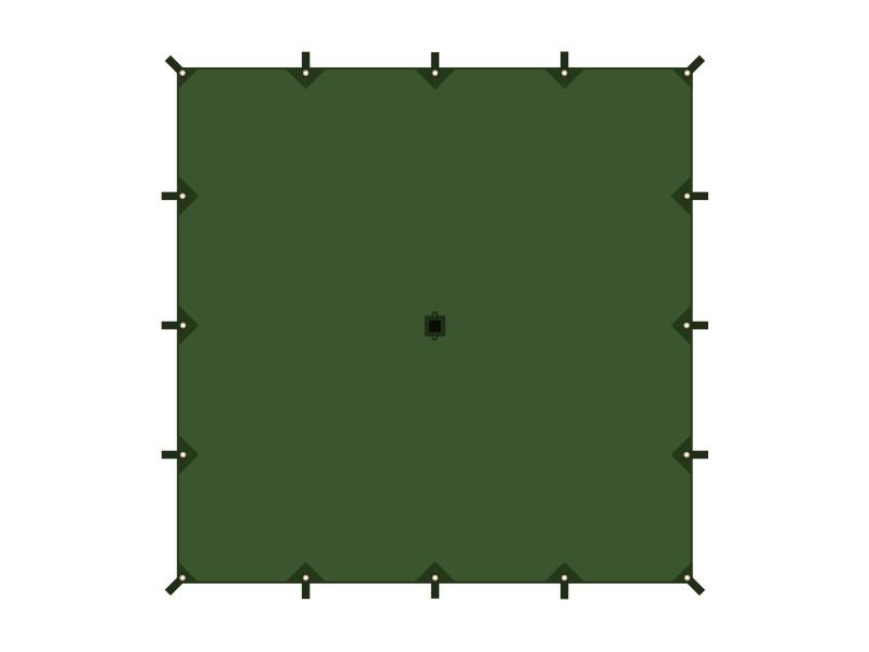 チーズタープMのメインの特徴(全16ヶ所のグロメット&ループ)