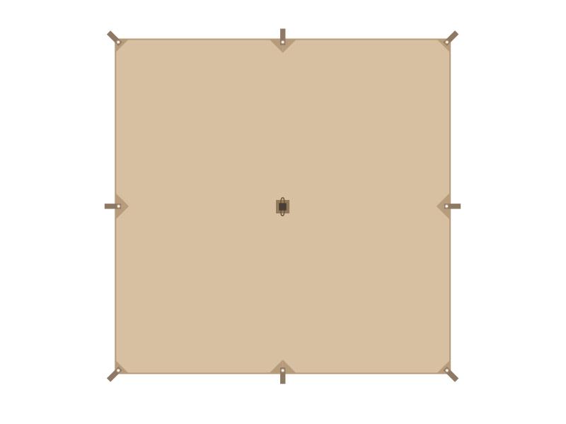 チーズタープSのメインの特徴(全8ヶ所のグロメット&ループ)