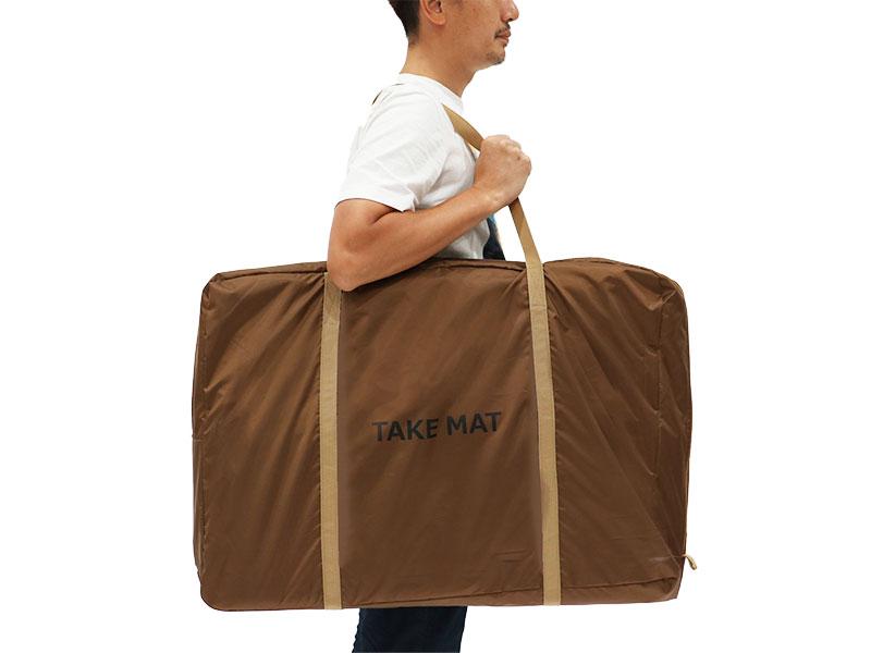 タケノコテント用マットのメインの特徴(専用キャリーバッグ)